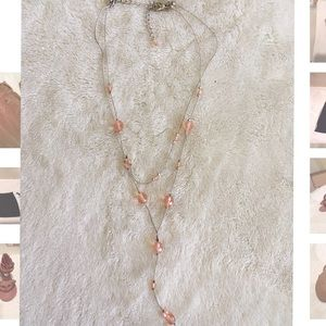 Jewelry - Pink double chain necklace